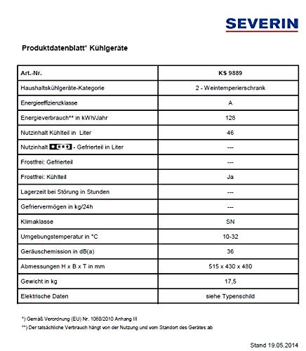 Severin KS 9889 Weinkühlschrank - 3